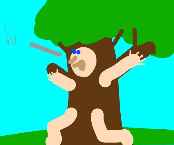 Hello mr treeman