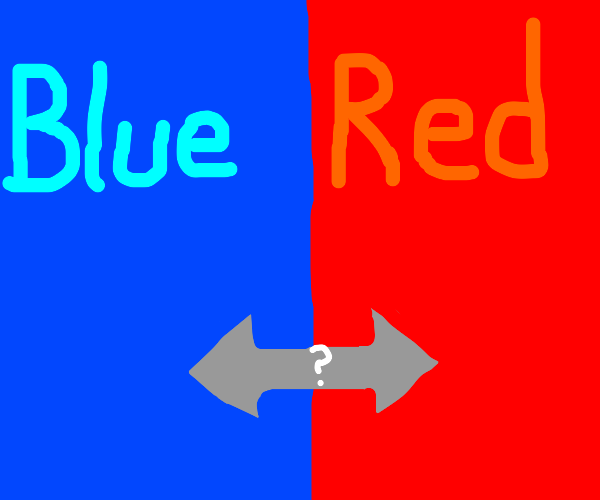 Pick a side: Red or blue