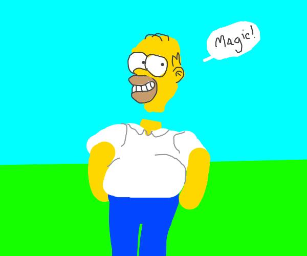 Floating Homer Simpson head