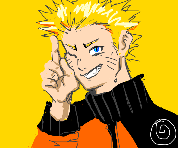 naruto without his headband thing