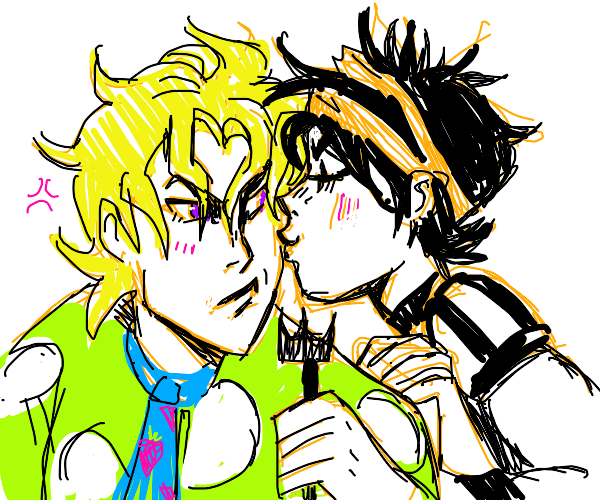 Narancia and Fugo kissing uwu
