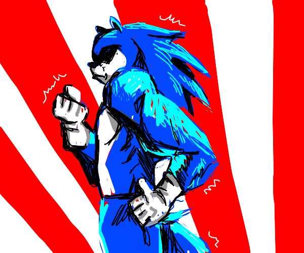 Buff anime Sonic