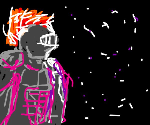 Knight fighting at Night