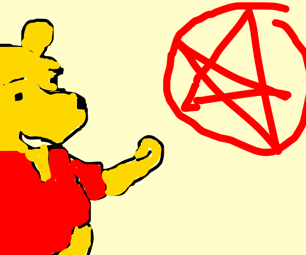 winnie the pooh worships satan