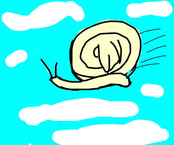 the snail can fly!!