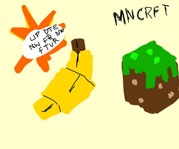 New Minecraft block: Banana