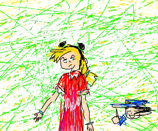 jolyne cujoh wearing a dress(jotaro likes it)