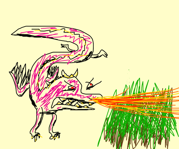 AH!! the dragon's burning down the forest!!!!