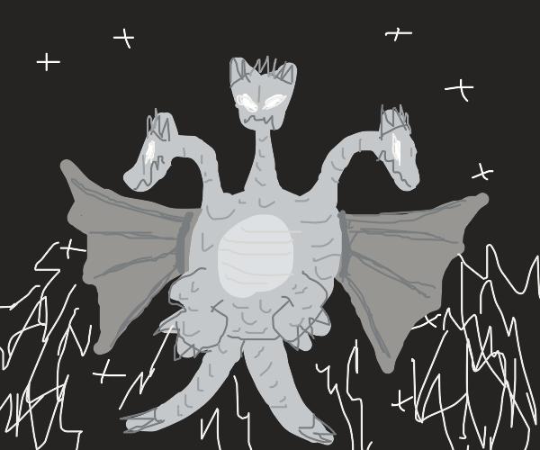 King Ghidorah, the three-headed space monster