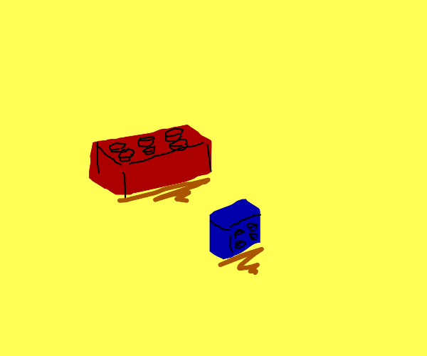 Red and blue legos