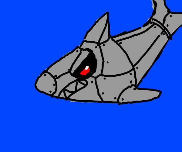 Metal robo shark