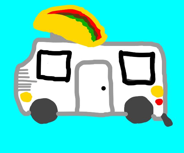 Taco delivery car