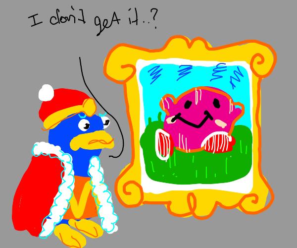 King Dedede doesn't understand modern art