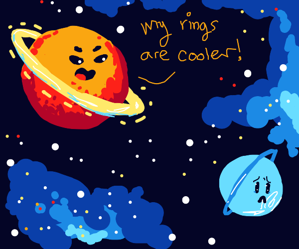 Saturn bullies Uranus (NOT DIRTY)