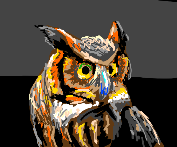 One mean owl