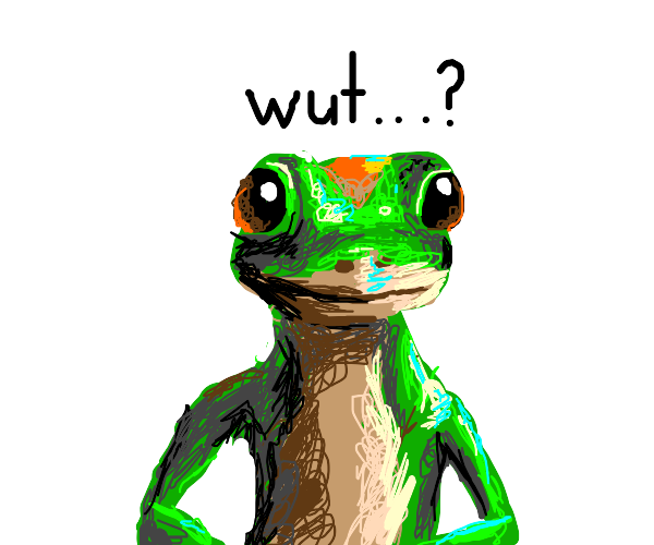 Geico Gecko is confused