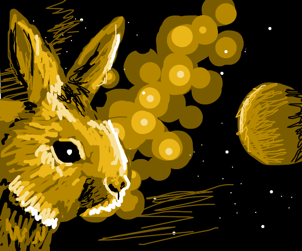 rabbit in space