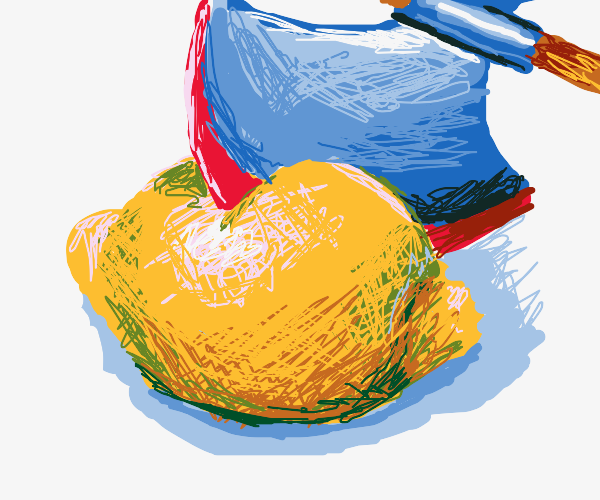 Cutting a lemon with an axe