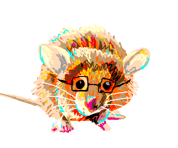 Mouse with Glasses