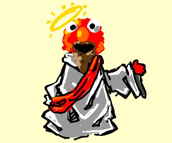 Jesus Christ as Elmo