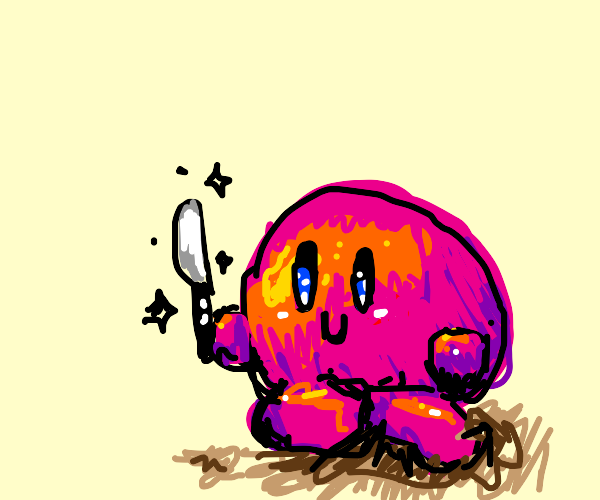 Kirby. And a knife