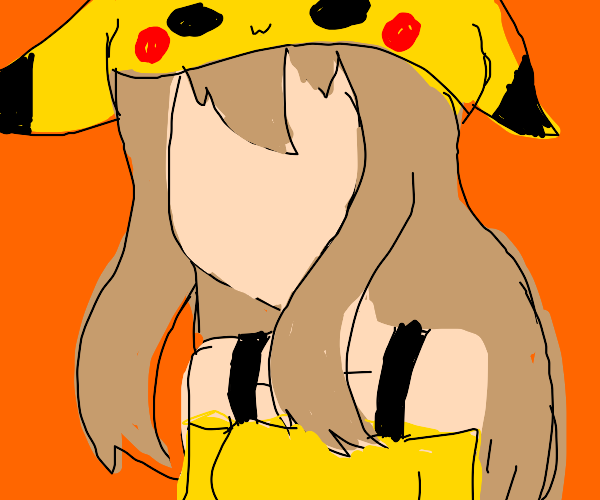 Pikachu as a real woman