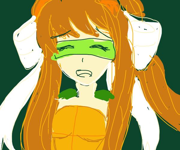 Monika as a Teenage Mutant Ninja Turtle