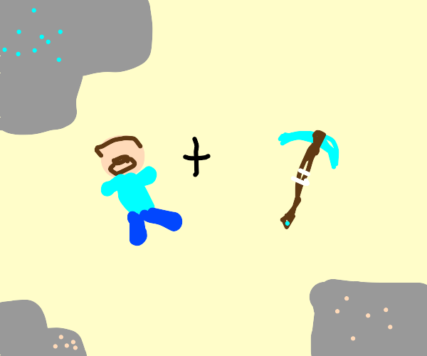 miner with a pickaxe