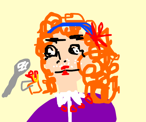 Mrs. frizzle on cocaine