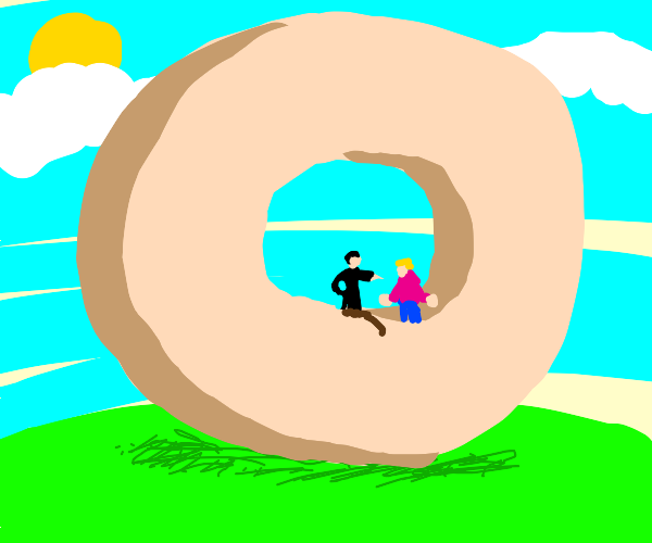 sir, im gonna have to ask u to exit the donut