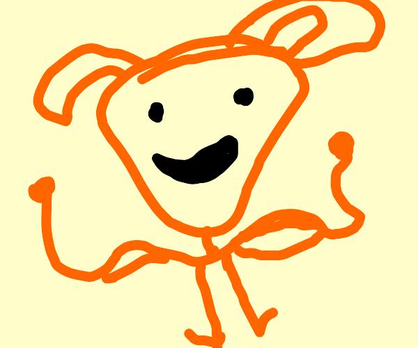 Carrot man. Buff Superhero bunny