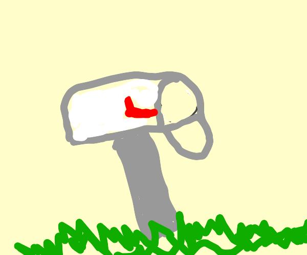 Empty white mailbox