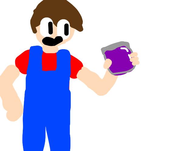 farmer with a jar of jam