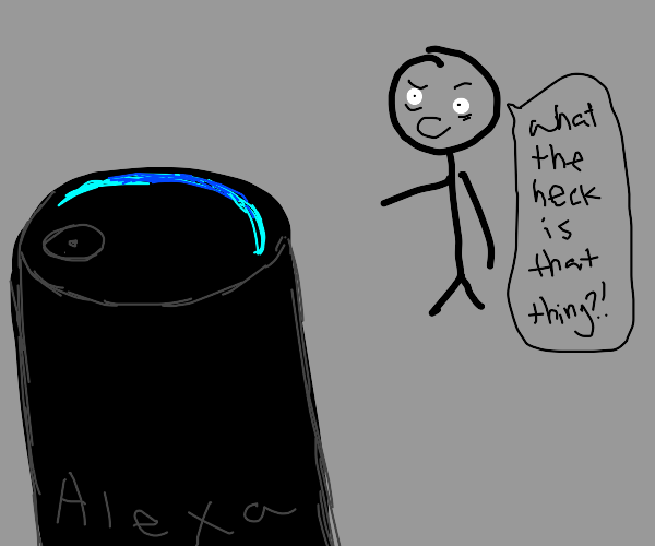 man disturbed by amazon's alexa