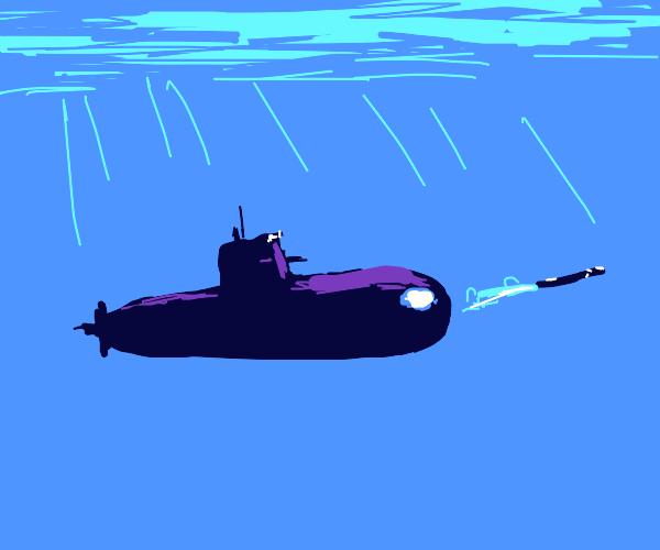 olive green submarine