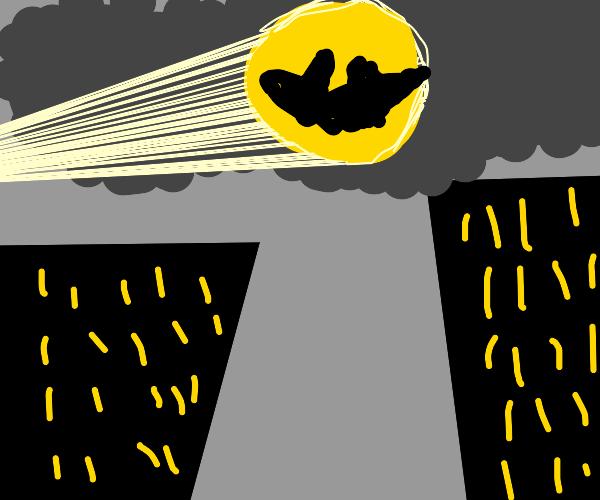 Bat in the Clouds