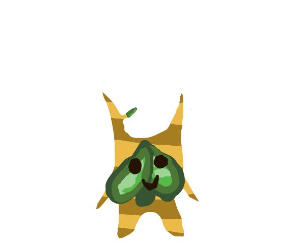 Happy leaf fairy