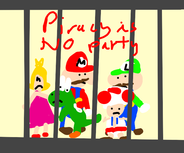 Mario characters locked up for piracy