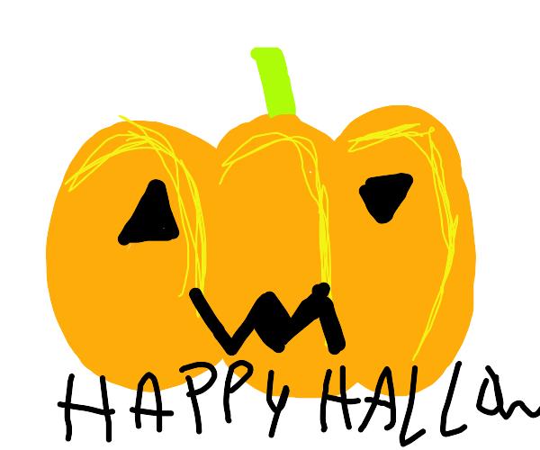 Pumpkin with Happy Halloween
