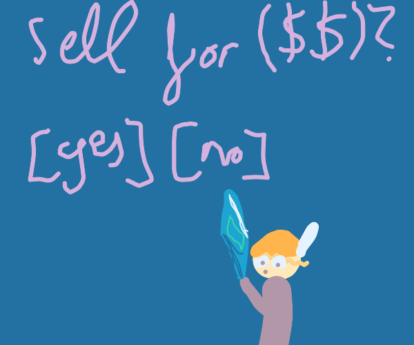 Sell Crystal for $$?  [Yes] [No]