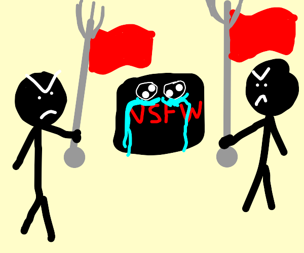 dont flag this drawing: person with penisbody