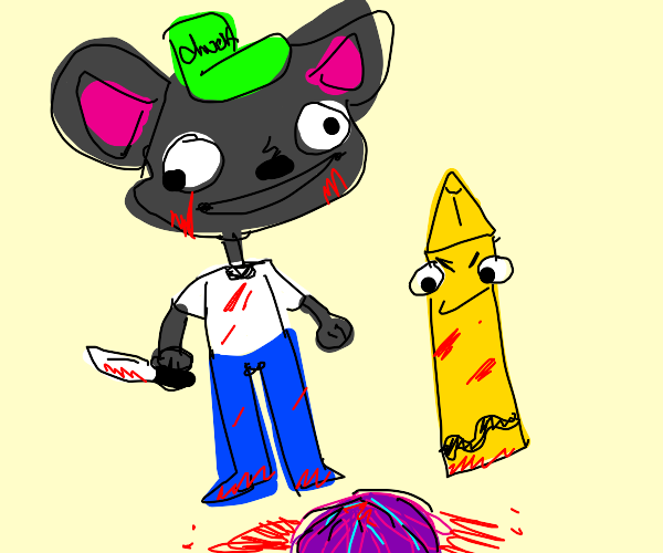 ChuckeCheeze and a crayon commit murder