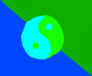 Yin&Yang Blue and Green Auroras