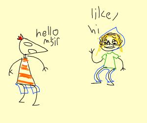 Phineas meets Bara Shaggy