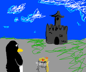 Penguin arrives in the Mouse Kingdom