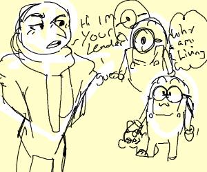 gru welcoming minions