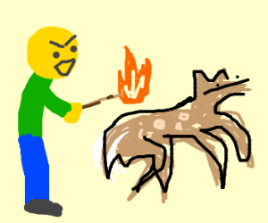 Arsonist sets Bambi on fire