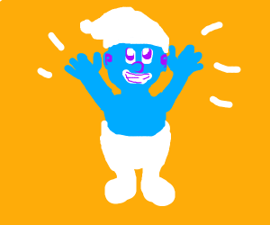 Smurf congratulates you on a job well done