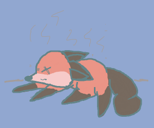 A dead smelly fox