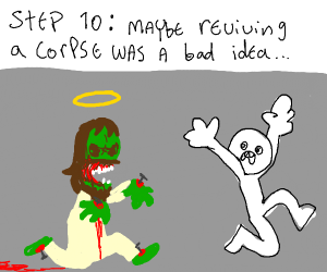 Step 9 bring Jesus back to life